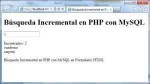 Búsqueda Incremental en PHP con MySQL